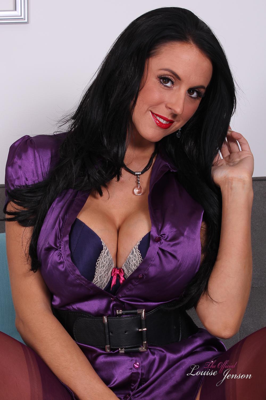 Purple Silk Dress And Lingerie