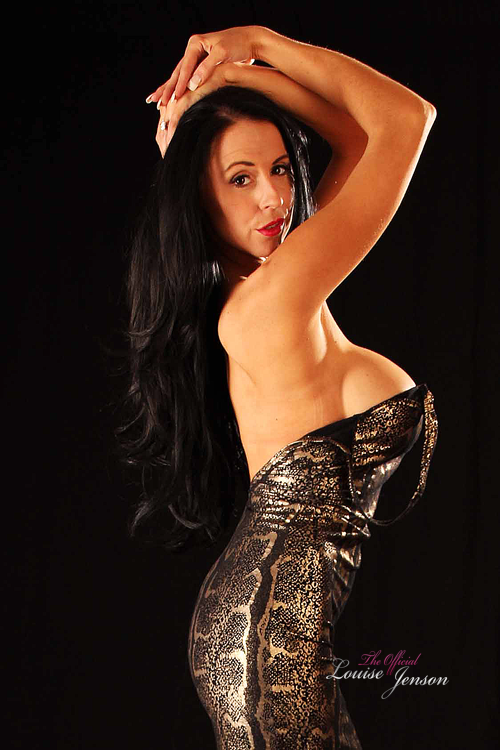 Skin Tight Black And Gold Dress
